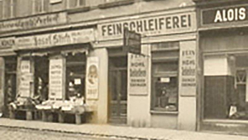 Das Geschäft im Jahr 1954